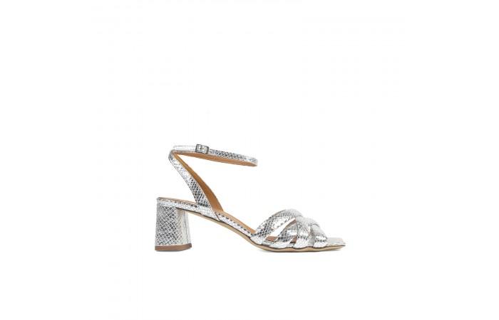 Silver Coco Strappy Sandal