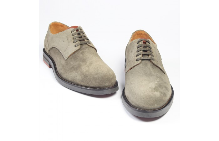 Taupe suede shoes