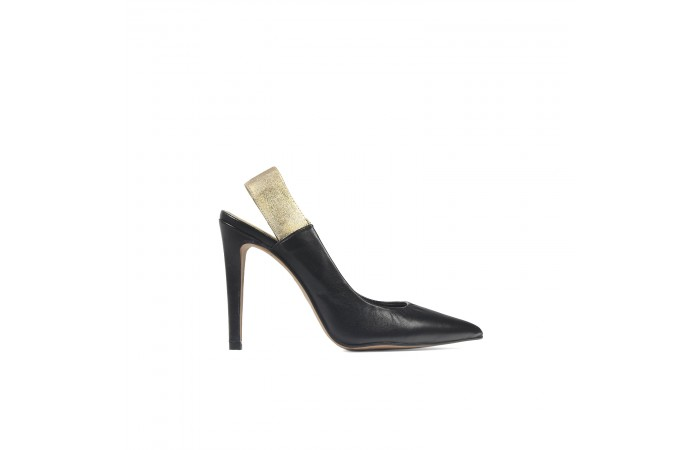 Zapato tacón aguja glitter