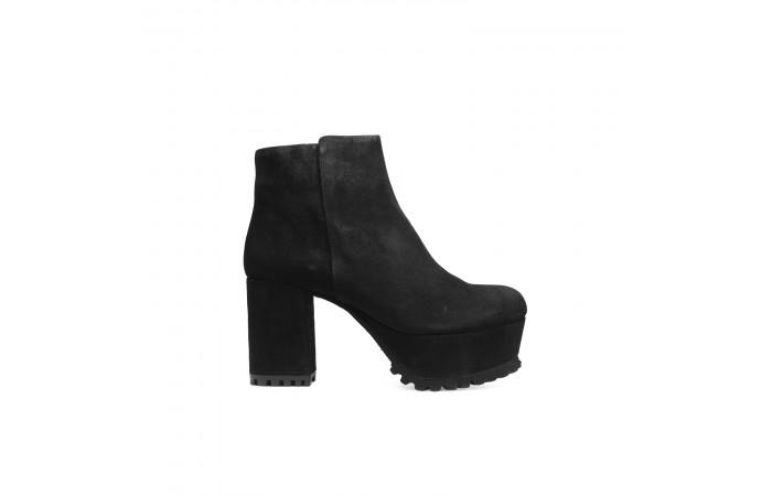 Black Suede Mel ankle boots