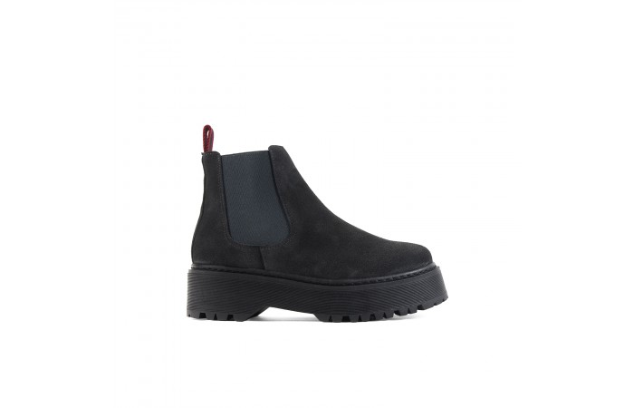 Gray Stark chelsea ankle boots