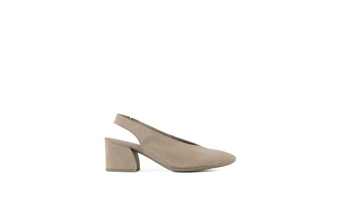 Geometric heeled sandal