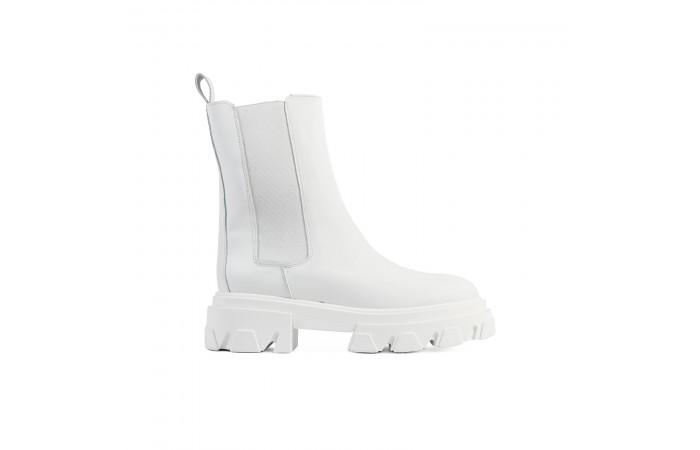 White Joy Platform Boots