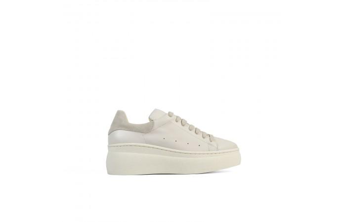 Beige Nina platform sneakers
