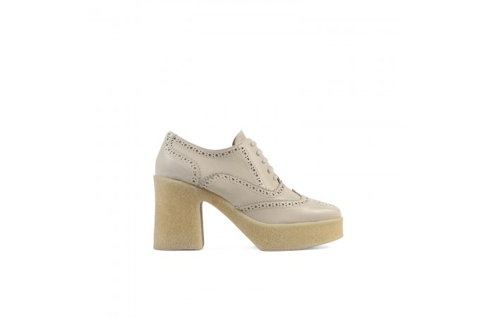 Beige leather Valerie Blucher