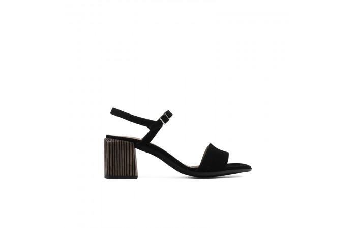 Black Amelia heeled sandals