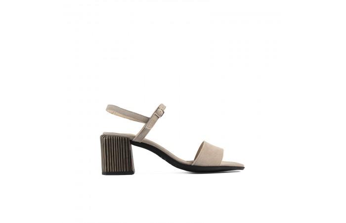 Beige Amelia heeled sandals