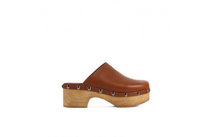 Leather Tacks Clog