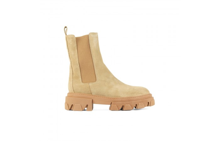 Camel Joy Platform Boots