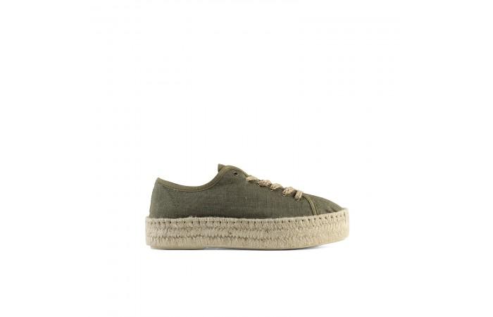 Khaki platform Lucca sneaker