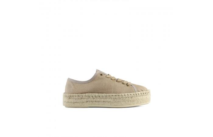 Beige platform lucca sneaker
