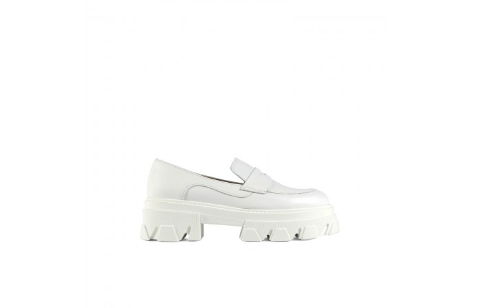 White Joy Loafer