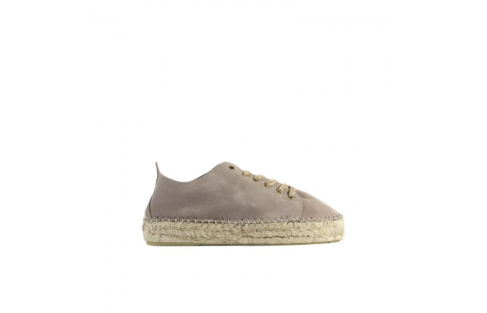 Taupe suede paola sneaker