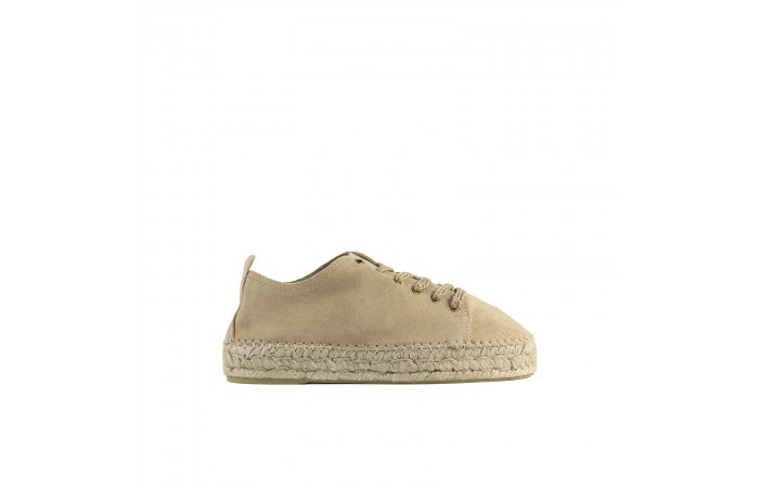 Camel suede paola sneaker