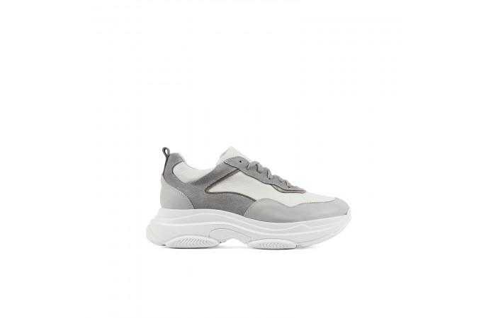 Gray Yoko Platform Sneakers