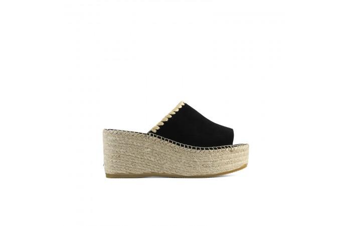 Yute Black Platform Sandal