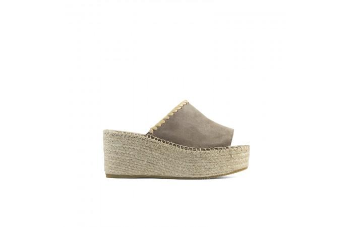 Yute Beige Platform Sandal