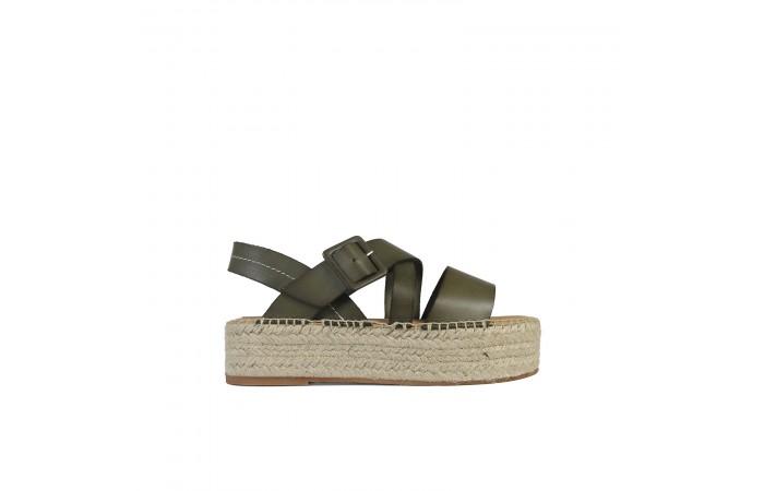 Green esparto Noa sandals