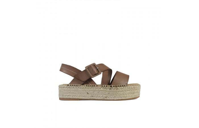 Brown esparto Noa sandals