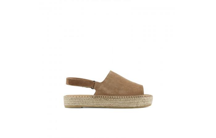 Camel platform esparto sandal