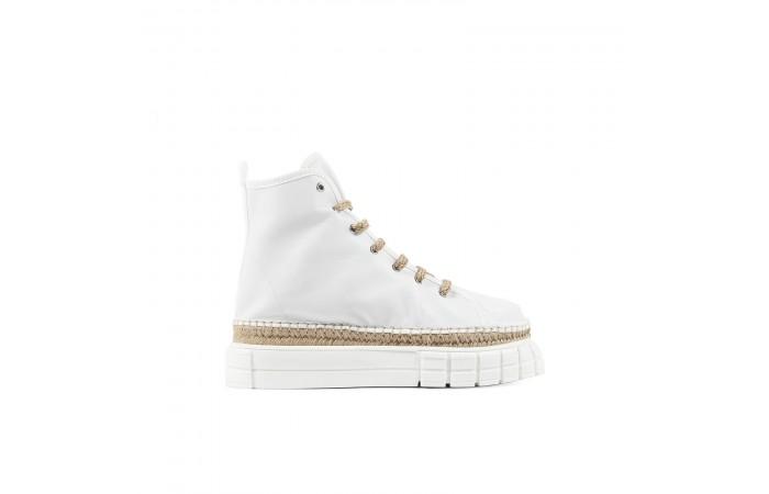White Verona booty sneakers