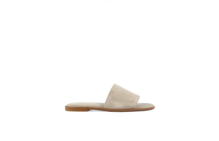 Beige suede strap sandals