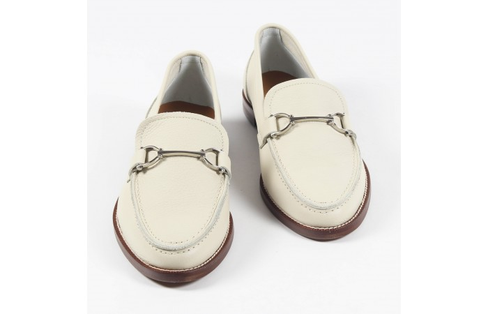 White Marine loafers