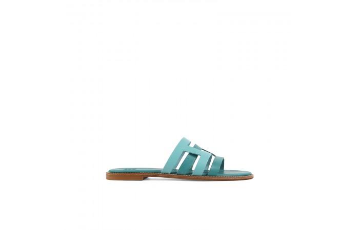 Turquoise Creta flat sandals
