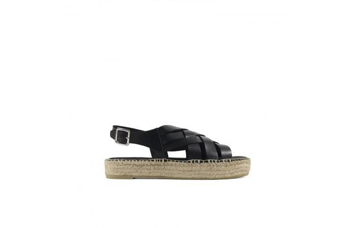 Black Braided Espart sandals