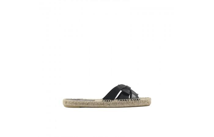 Sandalia esparto negra