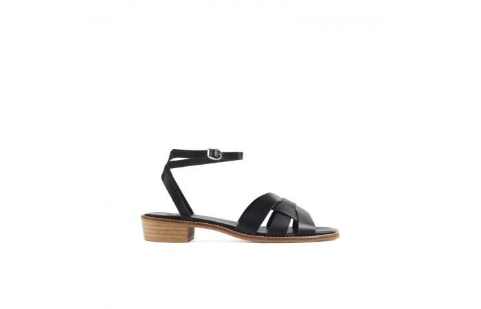Black Straps Nora sandals