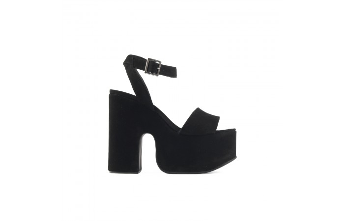 Wave heeled sandals