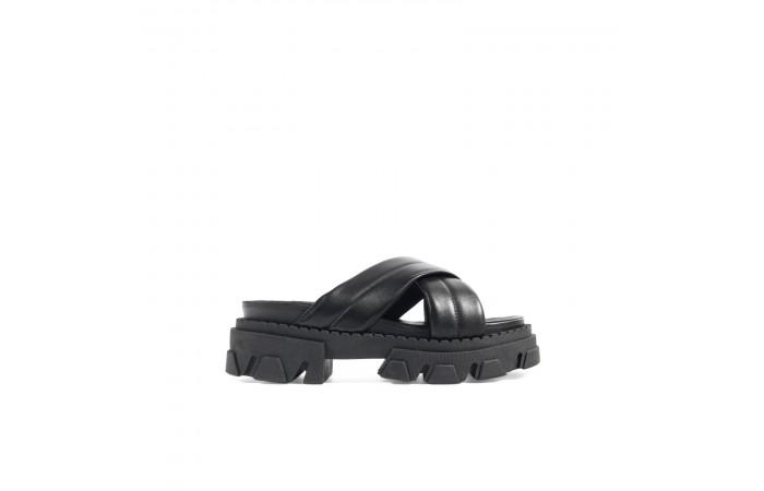 Gigi crossed sandals