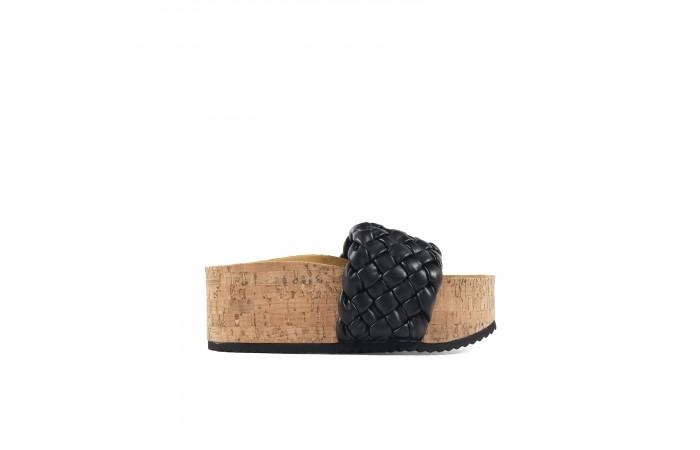 Black Zel platform Sandals