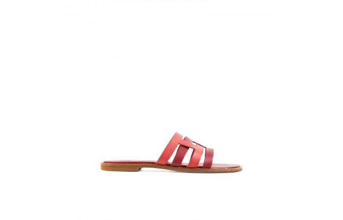 Red Creta flat sandals