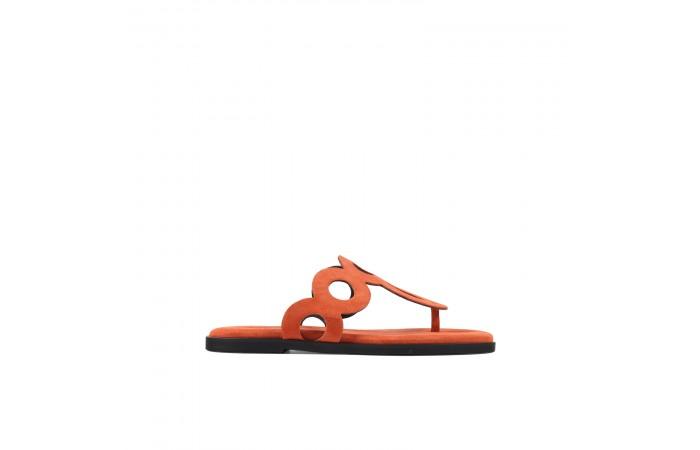 Orange Lombok sandals