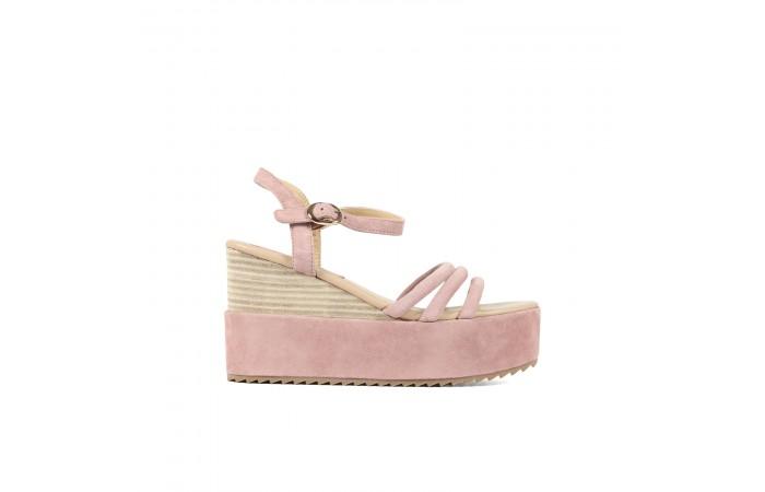 Pink platform sandals